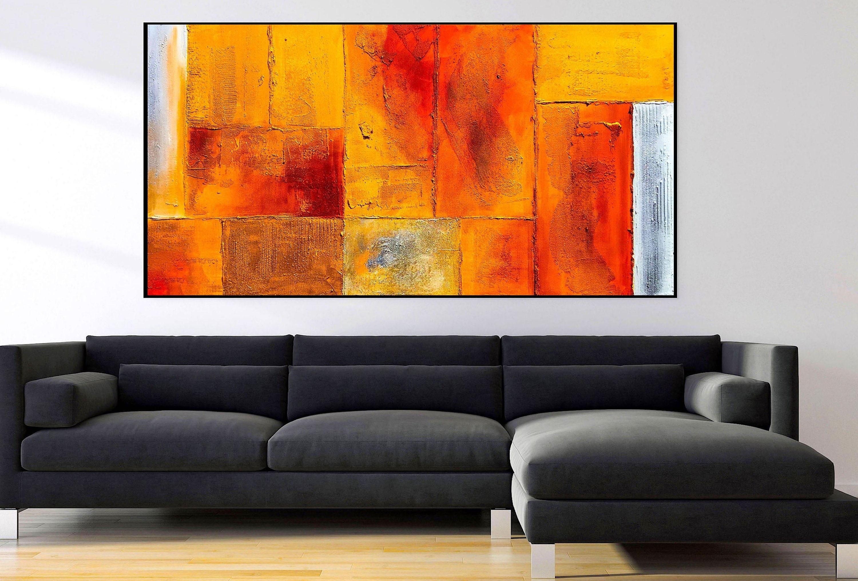 Große Abstrakte Ölgemälde auf Leinwand für Wohnzimmer ...