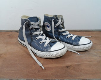 04c48008fff8 Vintage 90 s faded blue Converse high tops - youth - UK size 13.5