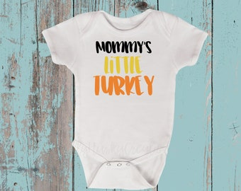 451615efe Mommy's Little Turkey Unisex Baby Bodysuit-Unisex Baby Bodysuit-Thanksgiving  Baby Bodysuit