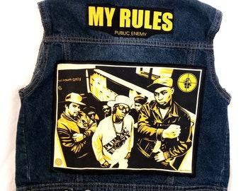 a5b77074d Public enemy jacket | Etsy