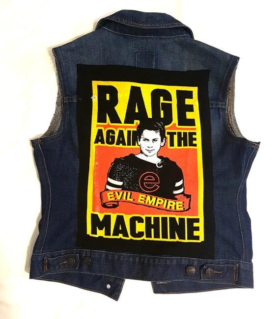 Women/'s Rage Denim rock vest-size MEDIUM