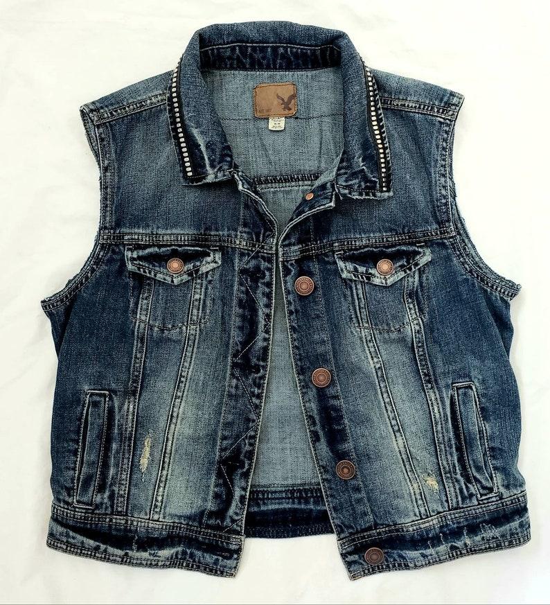Women/'s denim Rock Vest-size smallmed fit
