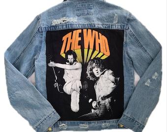 Men's( can be unisex) denim ROCK jacket