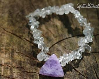 Amethyst Triangle Bracelet