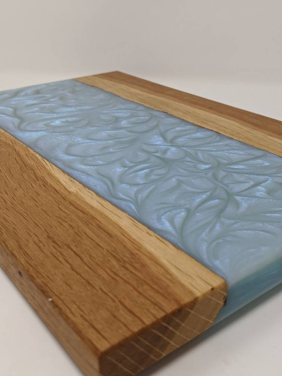 White Oak and Resin Charcuterie Board.  Handmade.  Hardwood.  Serving Tray.  Free Shipping