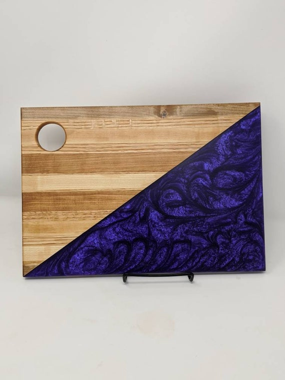 Handmade wood and resin charcuterie board.  Free shipping