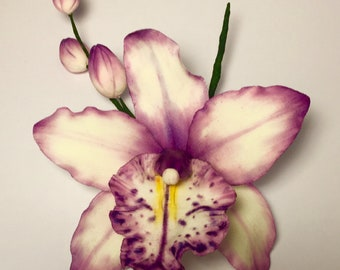 Gum paste orchid will make a stunning addition to your cake.