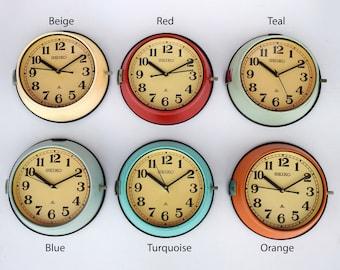Vintage Maritime Seiko Clocks Original Navigation Slave Nautical Ship's Clock Marine Time Quartz Clock Made in Japan