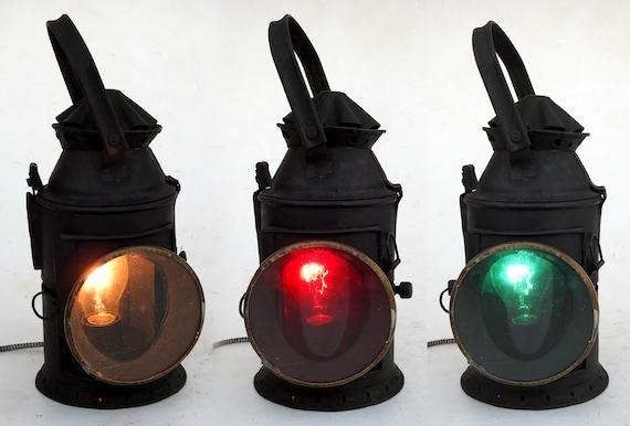 Vintage Railroad Lantern Indian Railway, Train Lantern Lamp