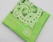 Vintage Hanky Handkerchief Vintage Pocket Square Scarf Vintage Bandana Made in USA