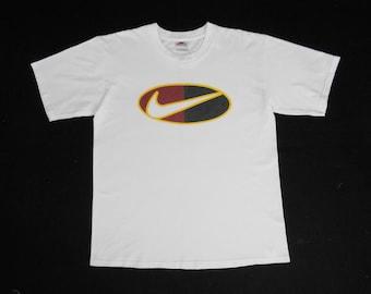 1a185cd7 Nike Shirt Vintage 90's Nike Swoosh Big Logo Shirt Made in USA Size M