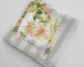 Burberrys Handkerchief Burberrys Floral Nova Check Vintage Hanky Handkerchief Burberrys Pocket Square Scarf