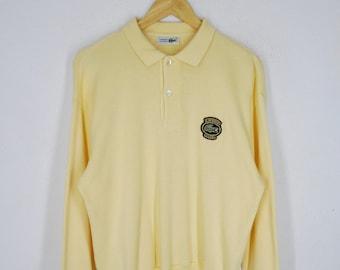 15de4eab97f6b3 Lacoste Sweatshirt Lacoste Pullover Vintage 90 s Lacoste Club Sweater Made  in Japan Size M
