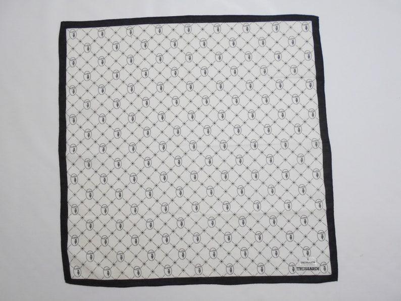 Trussardi Handkerchief Trussardi Vintage Hanky Handkerchief Trussardi Pocket Square Scarf