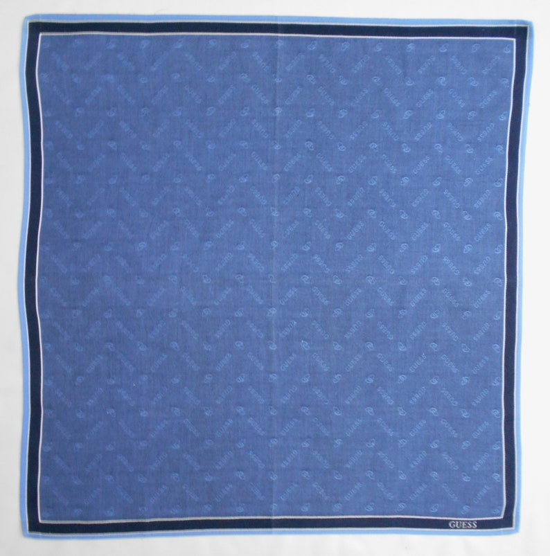 Guess Handkerchief Guess Vintage Hanky Handkerchief Guess Pocket Square Scarf