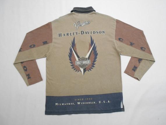 Harley Davidson Shirt Vintage 90's Harley Davidson