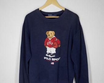 Polo Bear Ralph Lauren Sweatshirt Size M Polo Sport Ralph Lauren Sweater Vintage Polo Ralph Lauren Sweatshirt