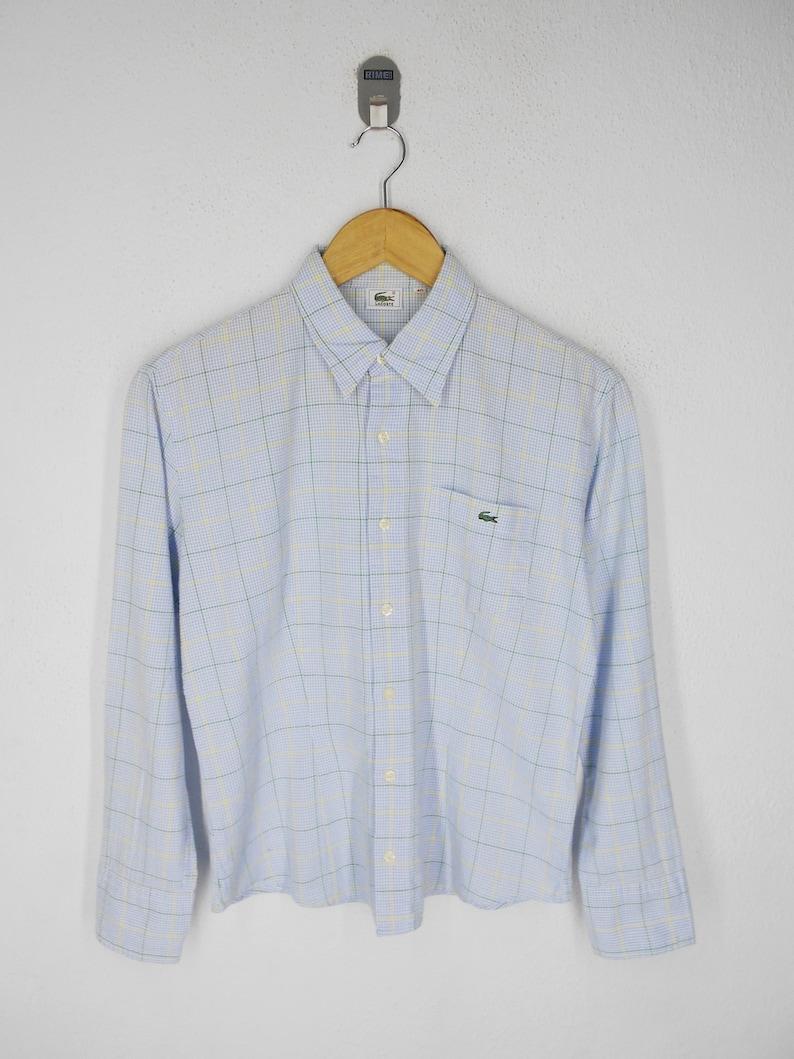 b574978a Lacoste Shirt Lacoste Button Down Women Shirt Vintage Lacoste Checkered  Shirt Size S-M