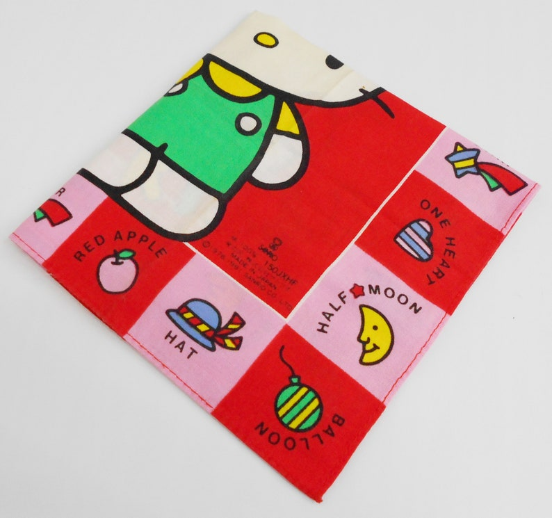 298691bb1 Hello Kitty Handkerchief Hello Kitty Sanrio Vintage Hanky   Etsy