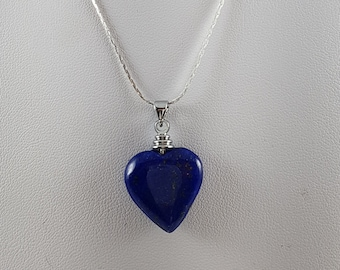 Lapis Lazuli Heart Necklace Afghanistan