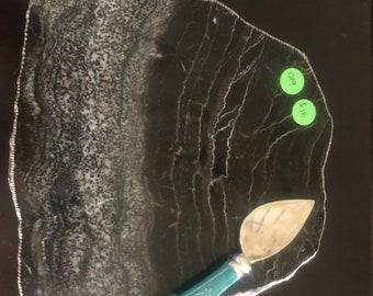 Unique sedimentary stone Charcuterie/Cheese Board