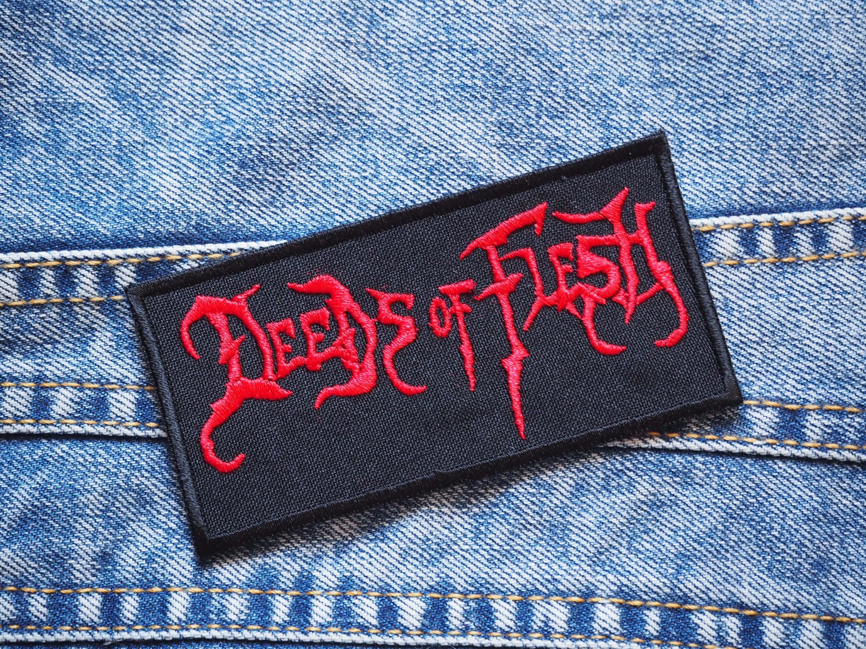 MDLB0217 .... DEEDS OF FLESH/'S LEATHER RINGED BRACELETS DEATH METAL