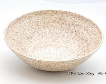 Ceramic Cream Speckled Bowl Wheel Thrown Pottery