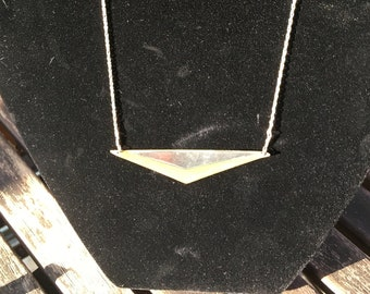Silver and Brass triangle necklace