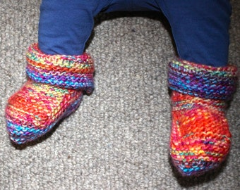 Bespoke Hand Knitted Baby Boots/Booties