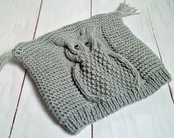 Knitting PATTERN-Owl Hat