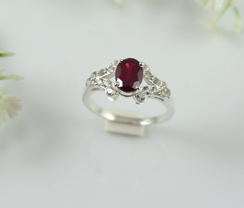 Valentine Gift,Statement Ring RUBY RING,Silver Ring Midi Ring,Promise Ring Engagement Ring,Birthday Gift,Wedding Ring.Design N0- RRGF-033