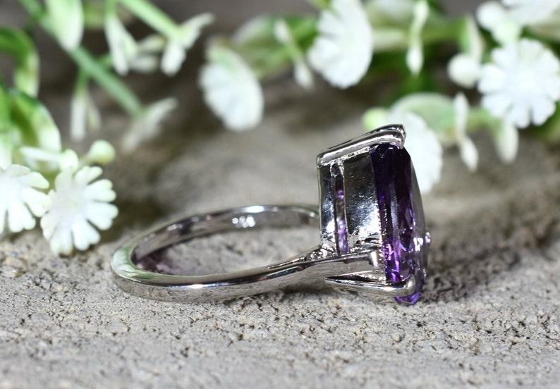 Gemstone Ring Wedding Ring Engagement Ring Design N0 Birthday Gift RA-001 Silver Ring Purple Amethyst Ring AMETHYST Ring