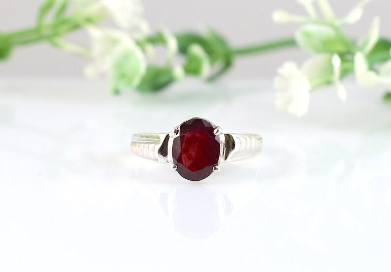 Engagement Ring,Birthday Gift,Wedding Ring.Design N0- RRGF-017 Ruby Silver Ring Christmas Gift,Statement Ring Gemstone Ring RUBY RING