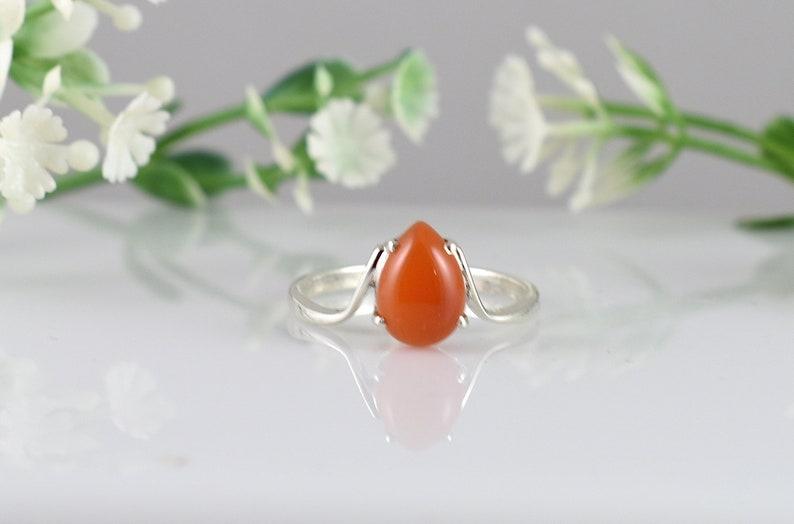 Design N0 RC0-009 Birthday Gift Engagement Ring Gemstone Ring CARNELIAN Ring Valentine Gift CARNALIAN Silver Ring Wedding Ring