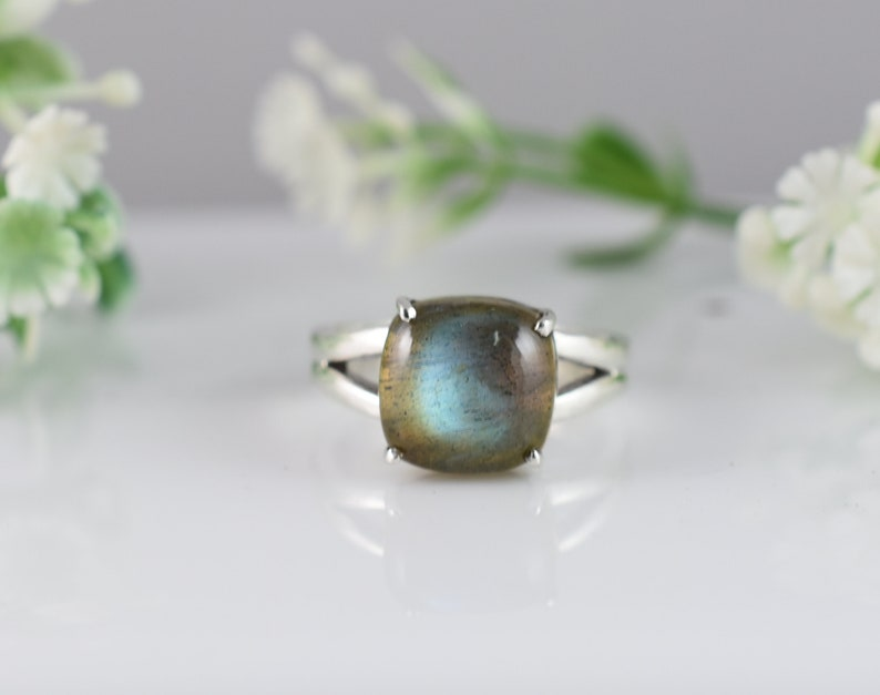 Gift Birthday RLB-040 Anniversary Gift Design N0 Wedding Ring Silver ring Engagement Ring Labradorite Silver Ring