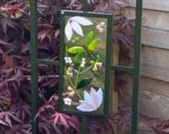 Fused Glass Garden Trellis