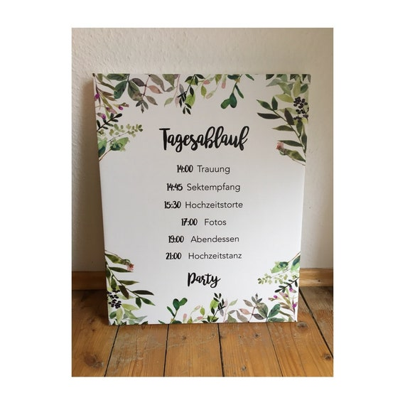 Willkommensschild Hochzeit Programm Hochzeit Dekoration Etsy