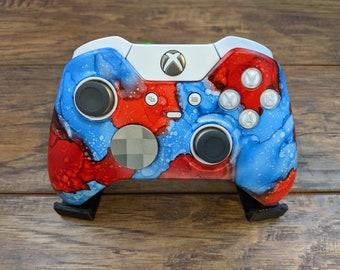 Red vs Blue - Custom Xbox Elite V1 Wireless Controller Shell