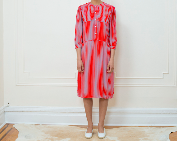red striped dress medium | red white blue striped