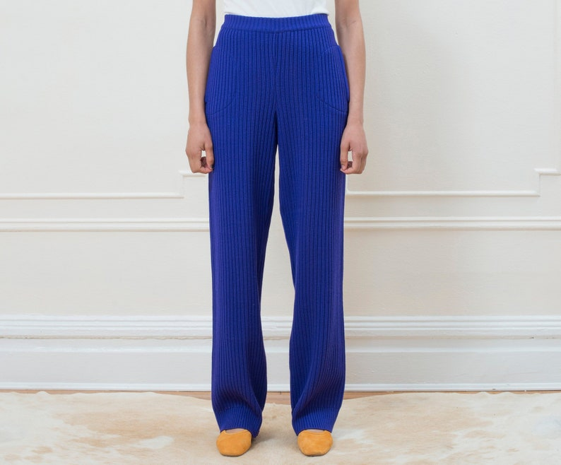 cd695a45b10 70s ysl purple knit pants medium yves saint laurent bright | Etsy