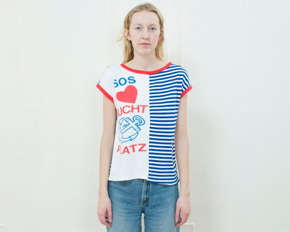 striped sailor shirt | graphic german t shirt | re