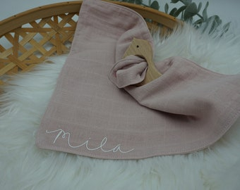 Snuff in muslin in pink | Gift for birth