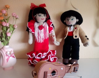 AMIGURUMI, crochet, flamenco