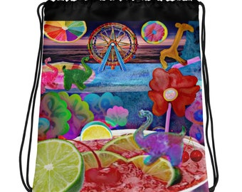 Limeade Drawstring bag