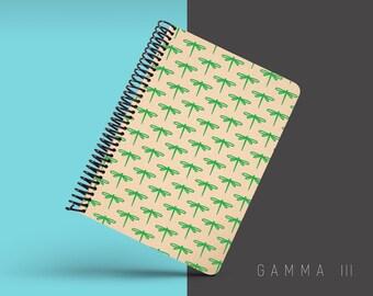 Handmade Minimal Notebook, Blank A5 Recycled Notebook, Grid Eco Friendly Journal, Writing Journal, Spiral Notebook, Writer Gift - GAMMA III