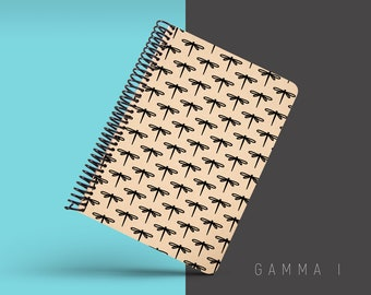 Handmade Minimal Notebook, Blank A5 Recycled Notebook, Grid Eco Friendly Journal, Writing Journal, Spiral Notebook, Writer Gift - GAMMA I