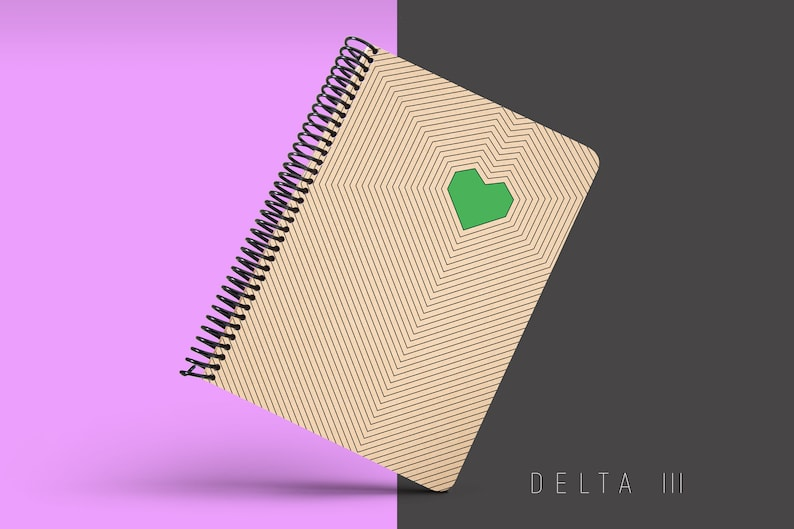 Handmade Minimal Notebook Blank A5 Recycled Notebook Grid image 0