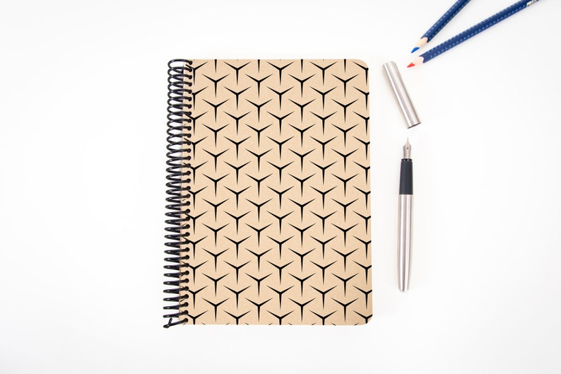 Writing Journal Writer Gift Grid Eco Friendly Journal Handmade Minimal Notebook BETA I Blank A5 Recycled Notebook Spiral Notebook