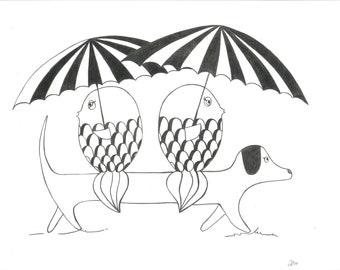 Friends & rain II