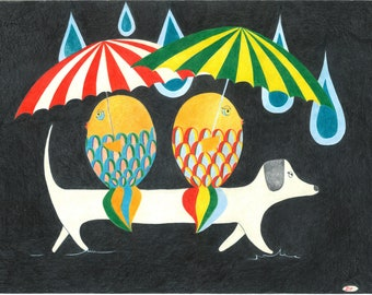 Friends & rain I
